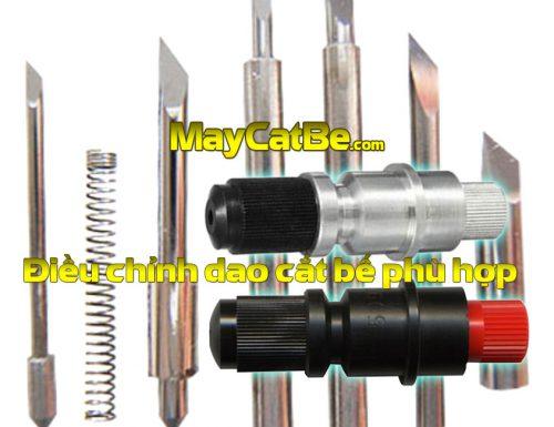 Điều chỉnh dao cắt cho máy cắt bế decal thế nào là vừa?