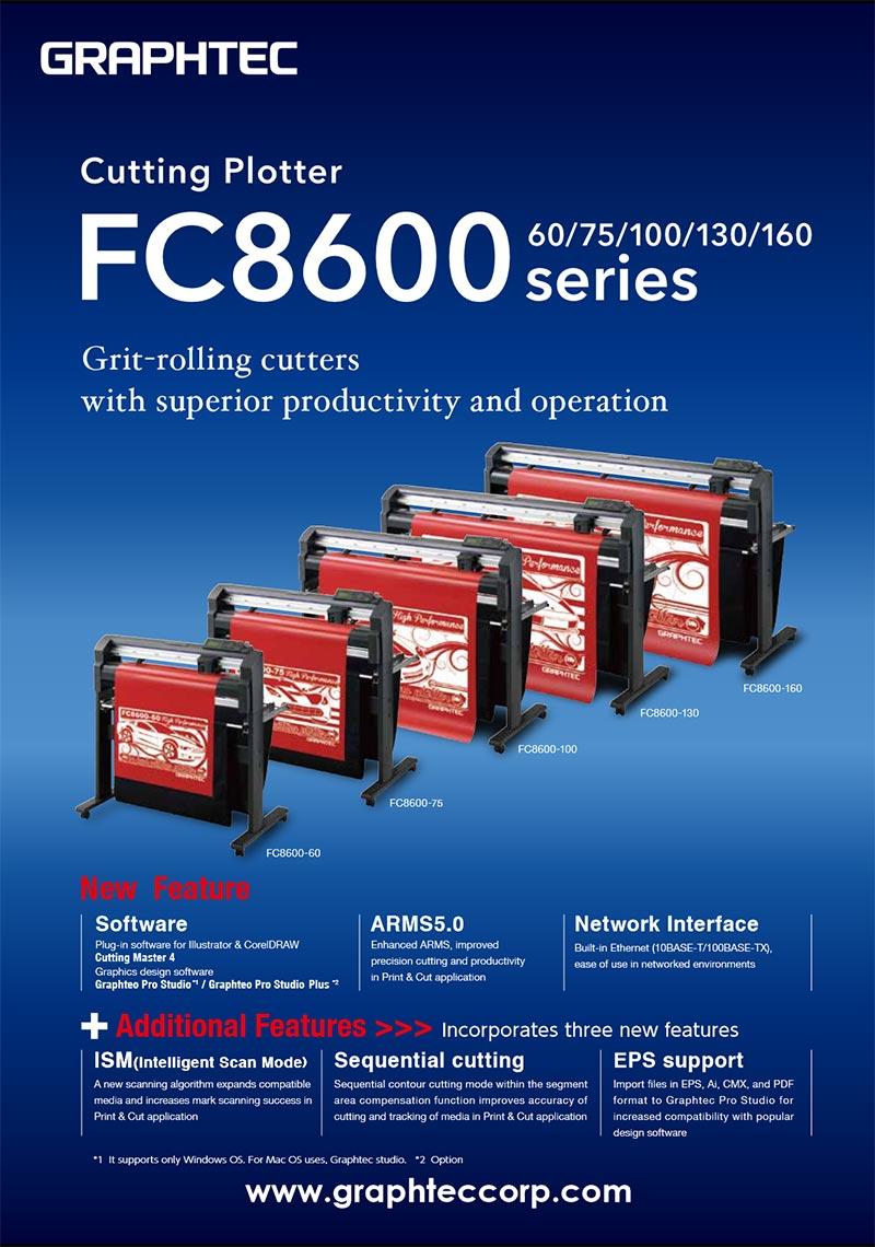 Máy cắt bế decal chuyên nghiệp Graphtec FC8600