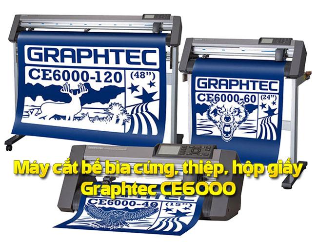 Máy cắt bế decal tem nhãn Graphtec CE6000 Plus