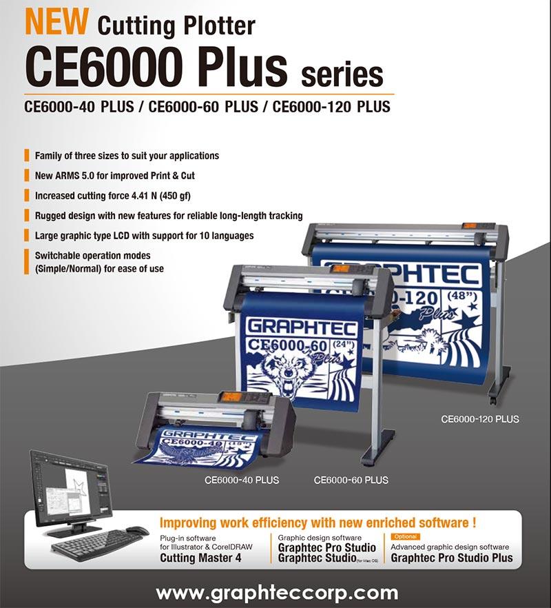 Máy cắt bế tem nhãn Graphtec CE6000 plus series