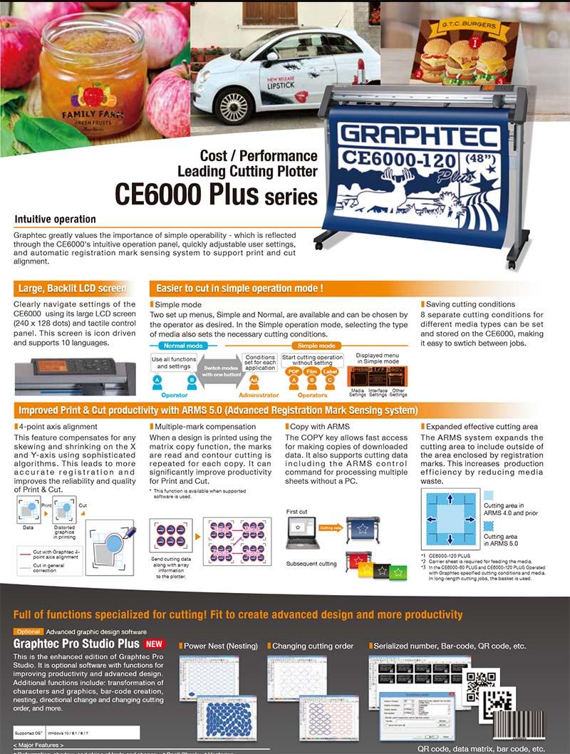 Máy cắt bế tem nhãn decal Graphtec CE6000 plus series