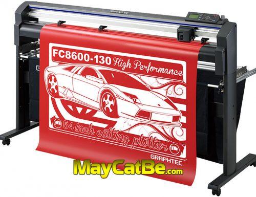 Máy cắt bế decal tem nhãn chuyên nghiệp Graphtec FC8600 Nhật Bản